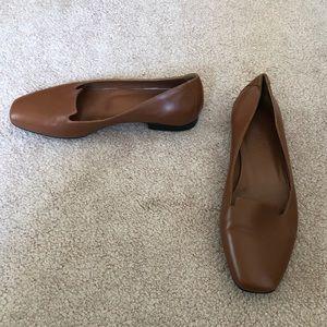 Hermès brown leather flats shoes Sz. 35 (5)